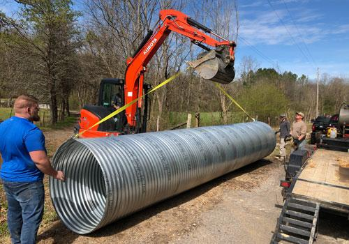 bamadirt culvert installation services north alabama