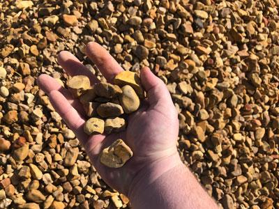 material river rock gravel north alabama